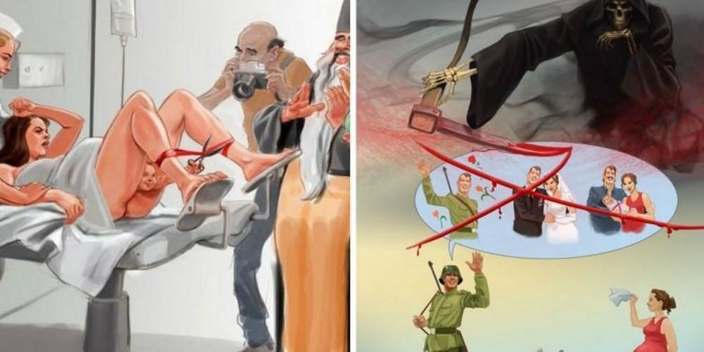 TOP 12 ilustrações que tratam a realidade com sarcasmo