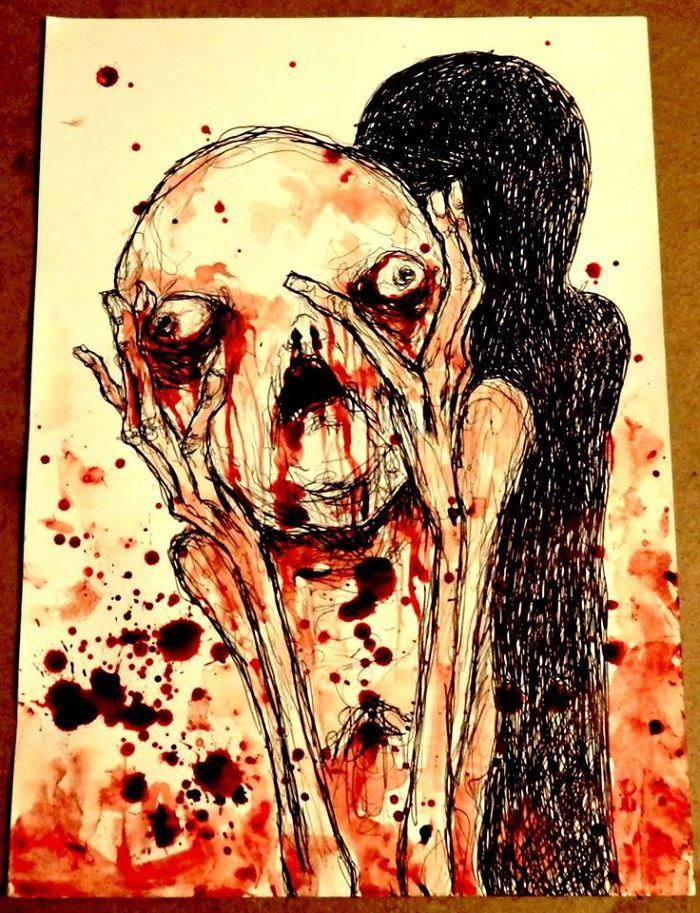 artista-recria-seus-pesadelos-usando-sangue_3